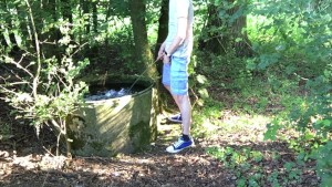 pissing in a public water tank.mov