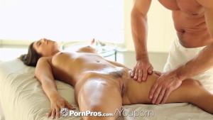 PornPros - Brunette Eva Lovia wants dick after her massage
