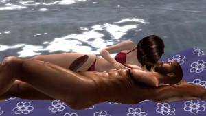 Fred Adjani rencontre une tres jolie femme virtuelle au bord de mer