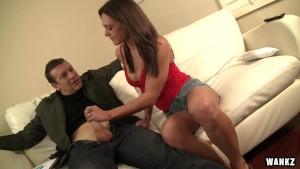 Sexy Leggy Olivia Wilder Cranks the Cock Until It Cums