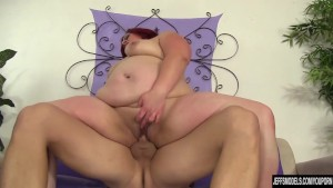 Sexy and chubby Phoenix Redd rides a stiff cock