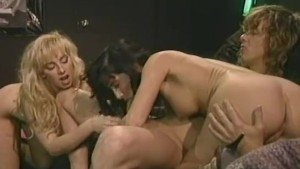 Madison Stone & Sandra Scream in a classic threesome with Tom Byron.