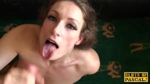 British submissive Ava Austen facefucked hard