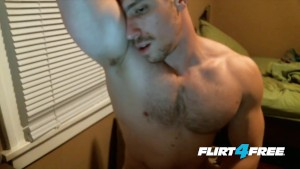 Armpit and Nipple Fetish Dude Cums a Big Load