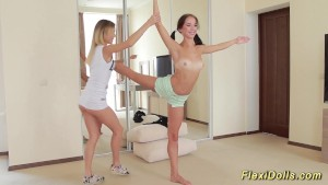 real flexi teen doll stretching