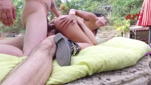Lovely french brunette Amel Annogas sex meditation