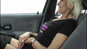 Grandmother Ginette gets fucked on parking lot