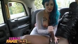 FemaleFakeTaxi Sexy Cabbie with big tits loves a big black cock