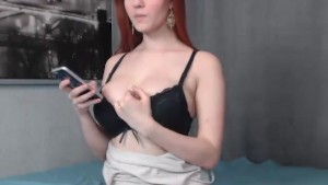 Russian redhead waiting for attention...