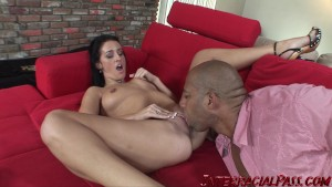 Hollie gets her pussy stretched with a massive black cock!