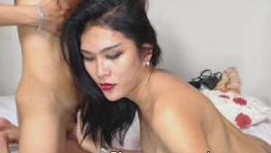 Horny Shemale Duo Giving Anal Pleasure