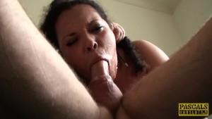 Squirting UK slut pussy slammed by maledom