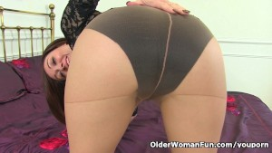 English milf Kitty Cream can t hide her high sex drive