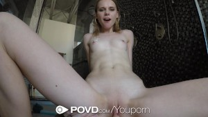 POVD Wet dripping shower fuck for skinny russian Caterina Petrov