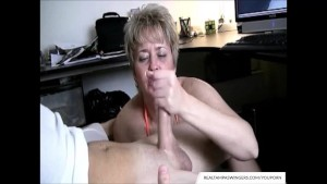 Hand Job Caught While Watching