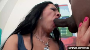 Mature wife with big black dick creampie