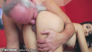 21Sextreme Teen Takes a Ride on a Grandpas Cock