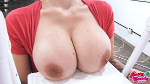 Huuge Boobs Blonde Teen, Big Bubble Butt and Meaty Cameltoe