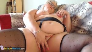 EuropeMaturE Blonde Chubby Lexie Solo Masturbation