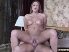 Porn girl bounces on cock