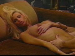 Beautiful Big Busted Blonde loves to rub in the cum  (CLIP)
