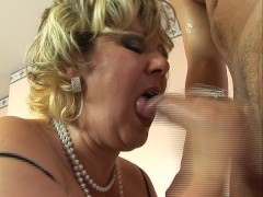 Mature big and lovely gets hammered by young stud