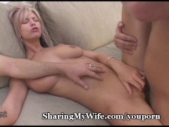 Hubby Excited To Share Wife And Joins