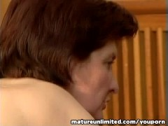Hairy pussy gets pounded hard mature