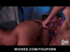 Hot brunette busty Latina pornstar fucked hard out