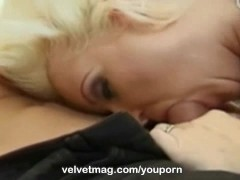 Velvet Magazine's Maya Devine milf tongue goes to work