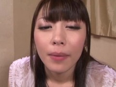 Subtitled Japanese gokkun cumming in mouth with Ayu Sakurai