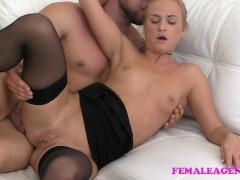 FemaleAgent Bodybuilder fucks sexy blonde agent to orgasm