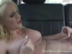 Shemales eat her own Cum or shoot her Cum in her own Faces Part 2.mp4