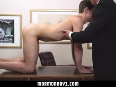 MormonBoyz- Boy submits to physical inspection & raw fuck