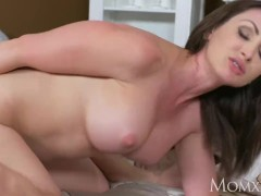 MOM Horny old Milf takes home toy boy from gym and teases him till creampie