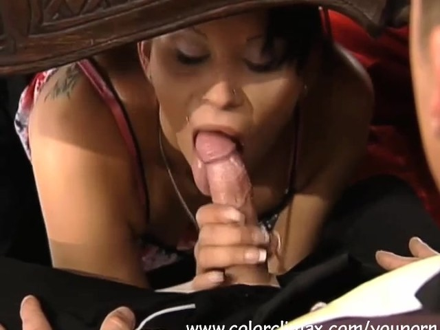 under table blowjob