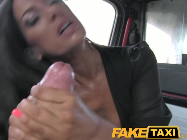 Faketaxi black haired milf cheats on hubby with taxi driver 3