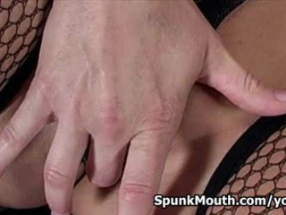 Stripclub Hottie Mellanie Monroe Hot Oral Action For A Sticky Semen On Her Face