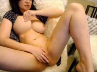 Brunette Milf With Natural Big Tits Tease Her And Pound Her Wet Hairy Pussy