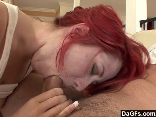Dagfs - Redhead Cant Get Enough Of Stepdaddy S Cock