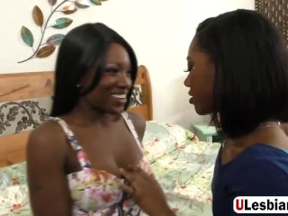 Beautiful Ebony Girls Giving Pleasure To Their Pussies With Hitachi