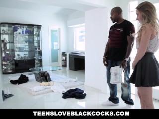 Teensloveblackcocks - Big Ass White Girl Fucked By A Huge Cock