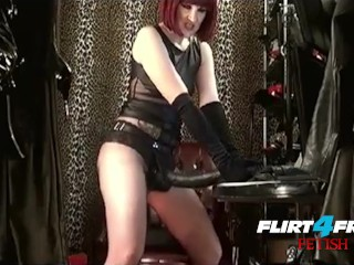 Slave Training Mistress Makes Her Worship Her Bbc