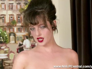 Busty Natural Brunette Kate Anne In Her Real Vintage Nylon Stockings Will Help You Make A Fulfilling Wank With You