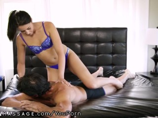 Only Massage Big Dicked Stepfather Gets His