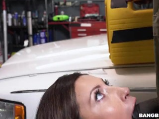 Bangbros - Mechanic Has The Biggest Dick Jade Jantzen Has Ever Seen