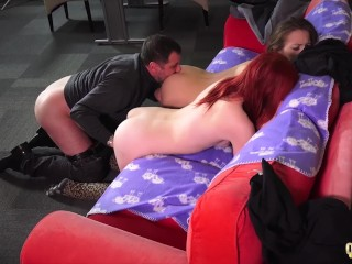 Horny Stepsisters Seduce And Fuck Her Stepfather And Share A Cumshot