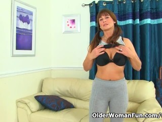 English Milf Lelani Gets Turned On In The Fitness Outfit