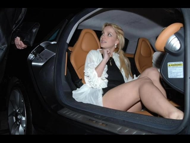 Britney spears shows pussy getting out of car