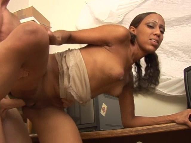 Ebony Takes Two Black Dicks